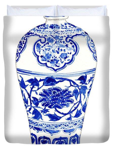 Blue And White Ginger Jar Chinoiserie 3 Duvet Cover
