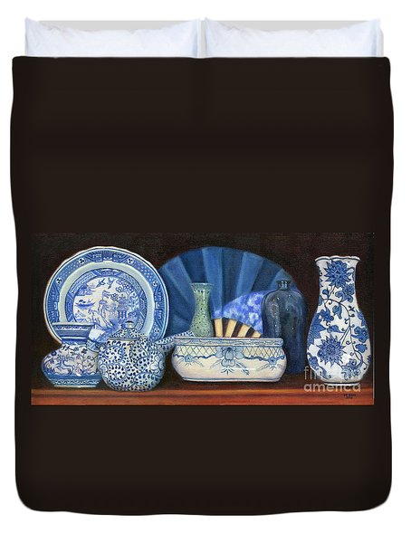 Blue And White Porcelain Ware Duvet Cover
