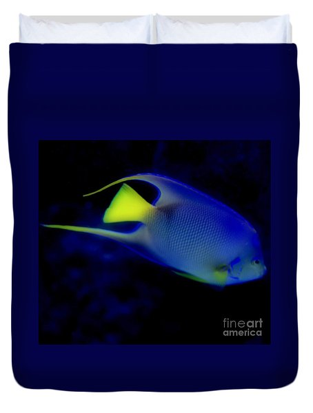 Blue And Yellow Fish Duvet Cover by Kathleen Struckle