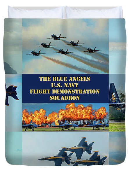 Blue Angels Compilation Duvet Cover