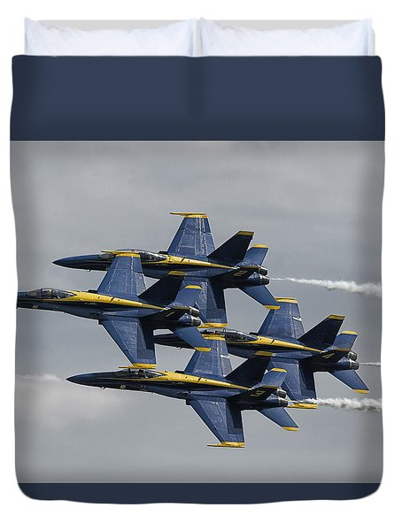 Blue Angels Diamond Duvet Cover