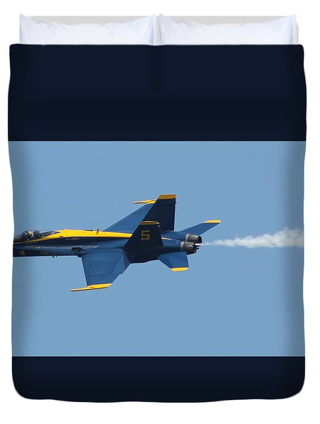 Duvet Cover featuring the photograph Blue Angels F/a-18 Hornet by Robert Banach
