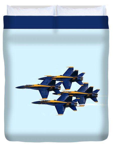 Blue Angels Formation I Duvet Cover