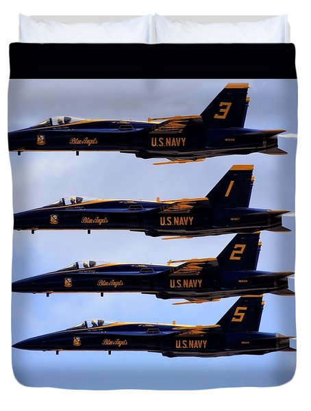 Blue Angels Formation IIi Duvet Cover