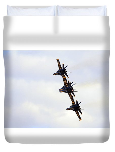 Blue Angels Formation Iv Duvet Cover
