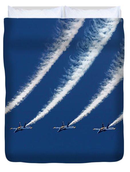 Blue Angels Formation Duvet Cover