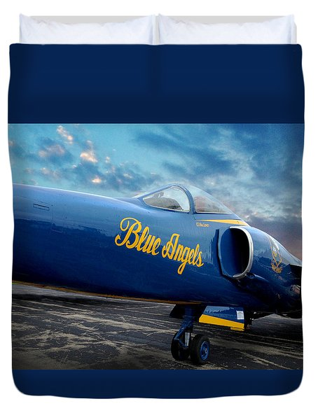 Blue Angels Grumman F11 Duvet Cover