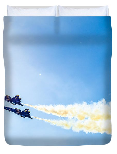 Blue Angels Into The Sun Duvet Cover
