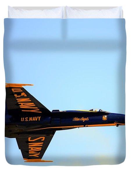 Duvet Cover featuring the photograph Blue Angels No. 5 by Gigi Ebert
