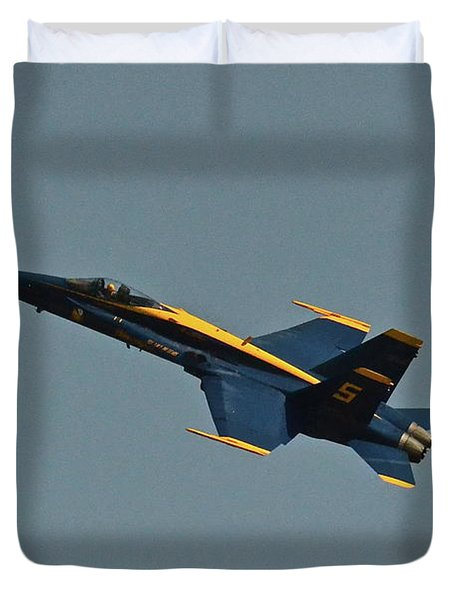Duvet Cover featuring the photograph Blue Angels Number 5 by Carol  Bradley