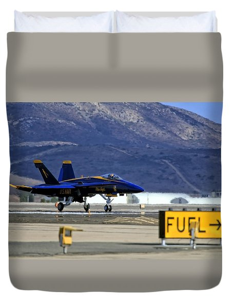 Blue Angels Taking Flight Duvet Cover
