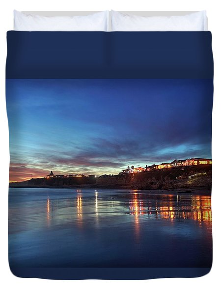 Duvet Cover featuring the photograph Blue As In Wonder, Not Melancholy by Quality HDR Photography