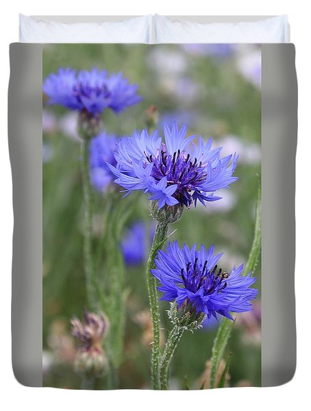 Blue Astera Duvet Cover