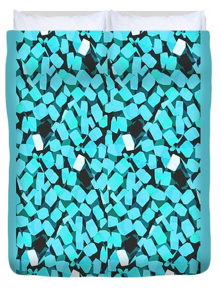 Blue Avalanche Duvet Cover by Steamy Raimon