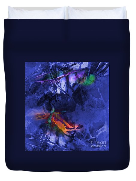 Blue Avatar Abstract Duvet Cover
