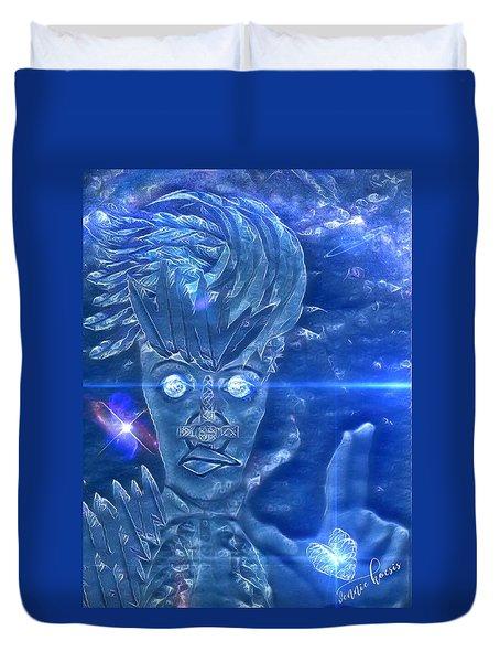 Blue Avian Duvet Cover