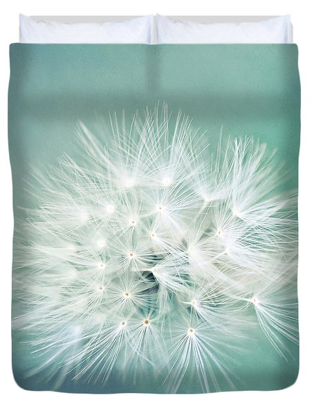 Duvet Cover featuring the photograph Blue Awakening by Trish Mistric