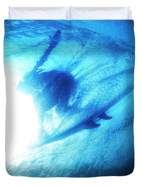 Blue Barrel Duvet Cover
