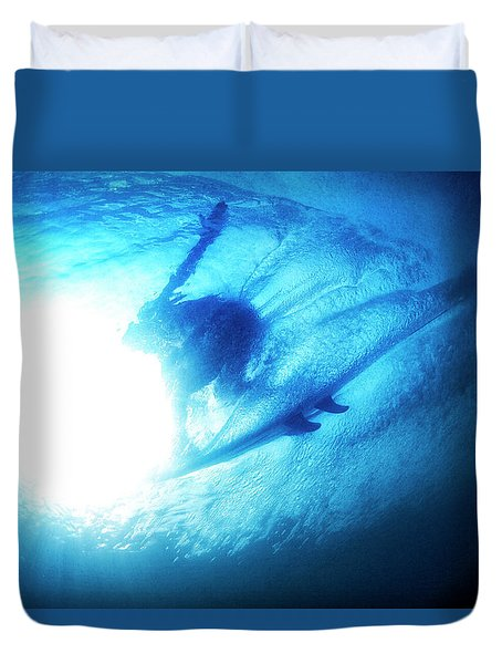 Blue Barrel Duvet Cover