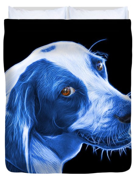 Blue Beagle Dog Art- 6896 - Bb Duvet Cover by James Ahn