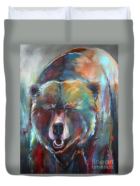 Blue Bear Duvet Cover