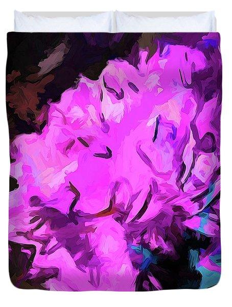Blue Behind Pink Duvet Cover