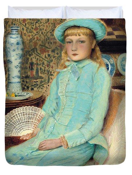 Blue Belle Duvet Cover