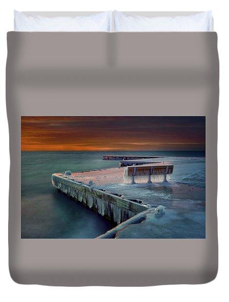 Blue Bench Duvet Cover