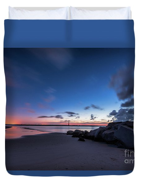 Blue Betsy Sunrise Duvet Cover by Robert Loe