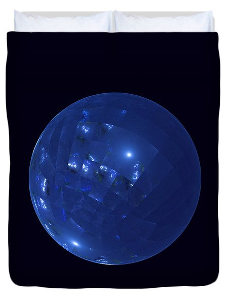 Blue Big Sphere With Squares Duvet Cover