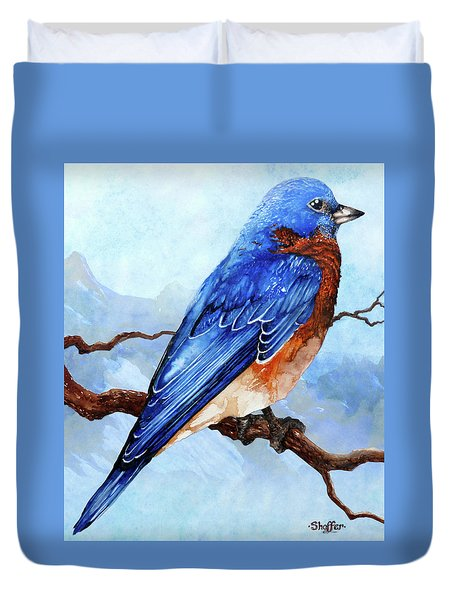 Blue Bird Duvet Cover