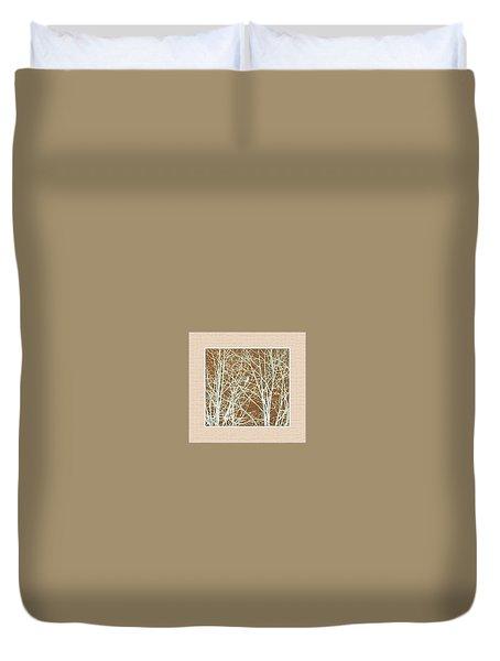 Blue Bird In Winter Tree Duvet Cover by Felipe Adan Lerma