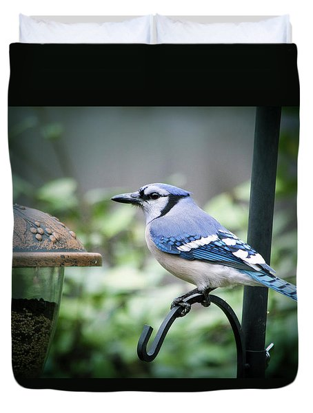 Blue Bird Of Happiness Duvet Cover