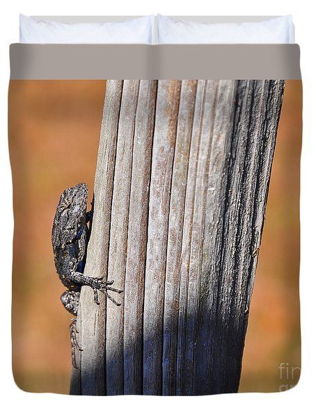Duvet Cover featuring the photograph Blue Bits by Al Powell Photography USA