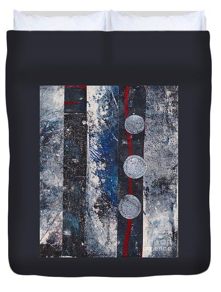 Blue Black Collage Duvet Cover