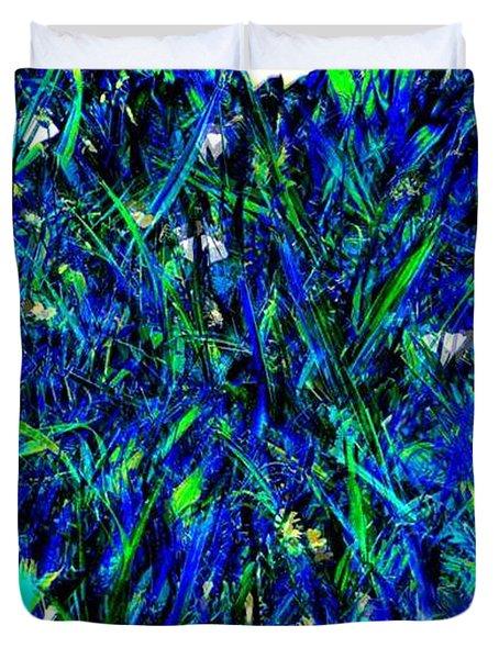 Blue Blades Of Grass Duvet Cover