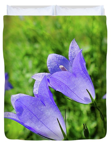 Hairbell - Campanula Rotundifolia Duvet Cover