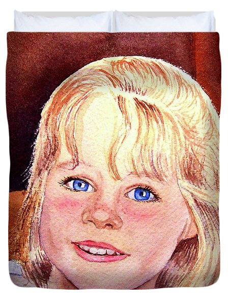 Blue Blue Eyes Duvet Cover by Irina Sztukowski