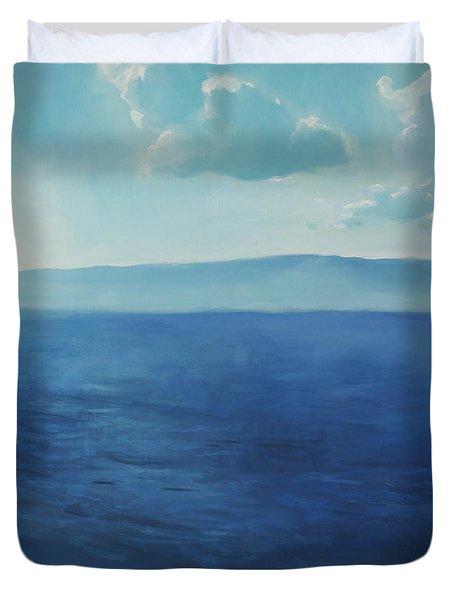 Blue Blue Sky Over The Sea  Duvet Cover