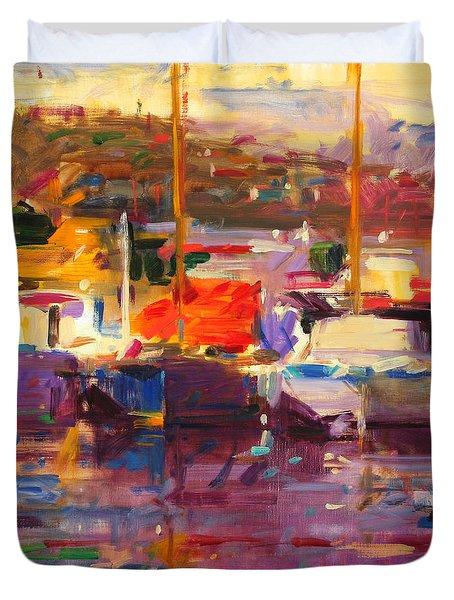 Blue Boat  St Tropez  Duvet Cover