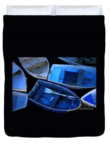 Blue Boats Duvet Cover