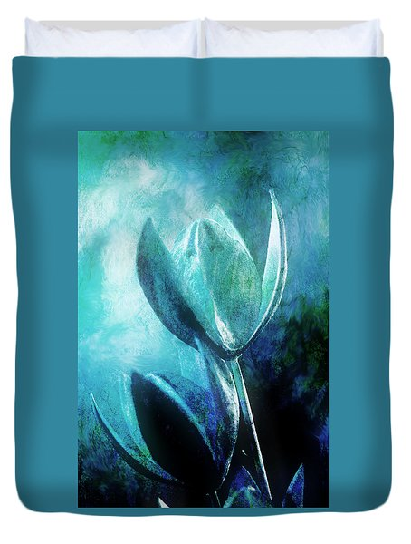 Blue Botanicals Duvet Cover