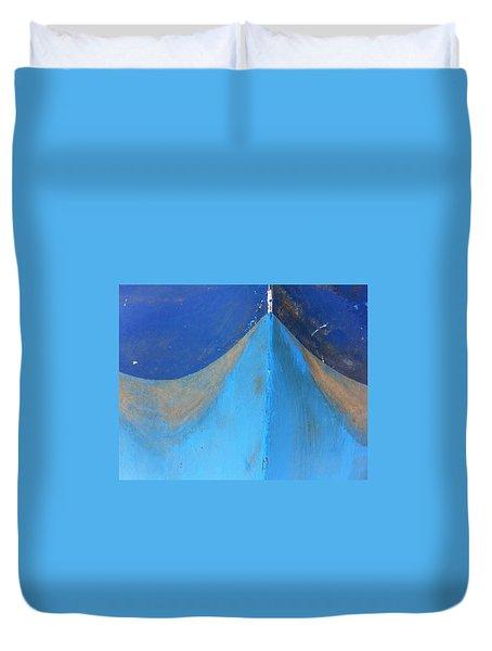 Blue Bow Duvet Cover
