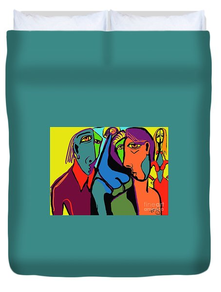 Blue Breasted Distraction Duvet Cover