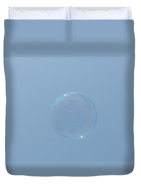 Blue Bubble Duvet Cover