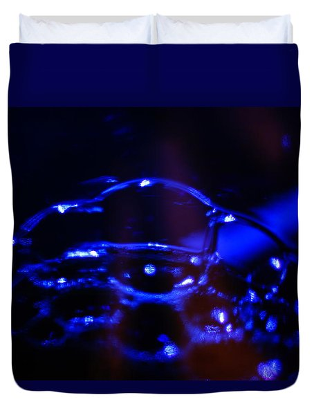 Blue Bubbles Duvet Cover