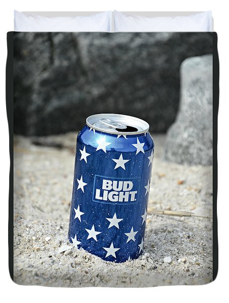 Blue Bud Light Duvet Cover