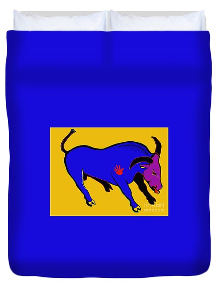 Blue Bull Duvet Cover