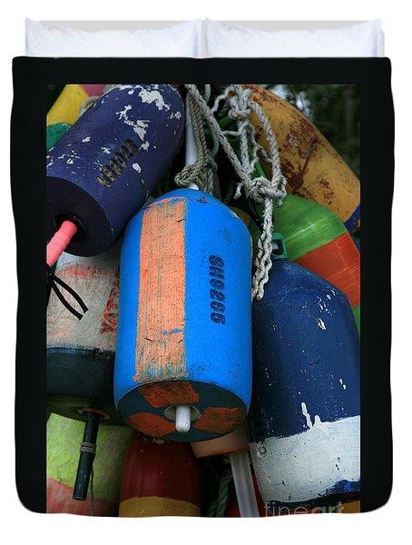 Blue Buoys Duvet Cover