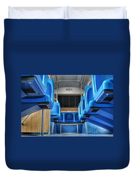 Blue Bus Seats Duvet Cover
